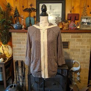 Eddie Bauer zip up hooded sweater